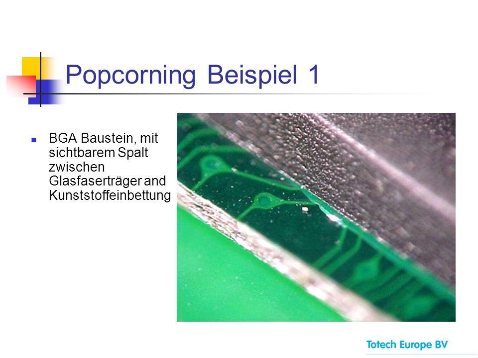 Popcorning Beispiel 2 QFP Baustein, mit Riss an der Oberfläche der Kunststoffeinbettung
