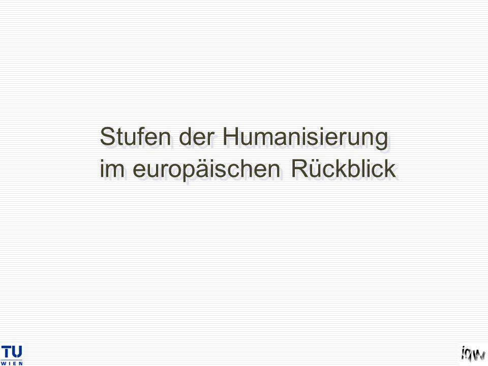 Stufen der Humanisierung im europäischen Rückblick