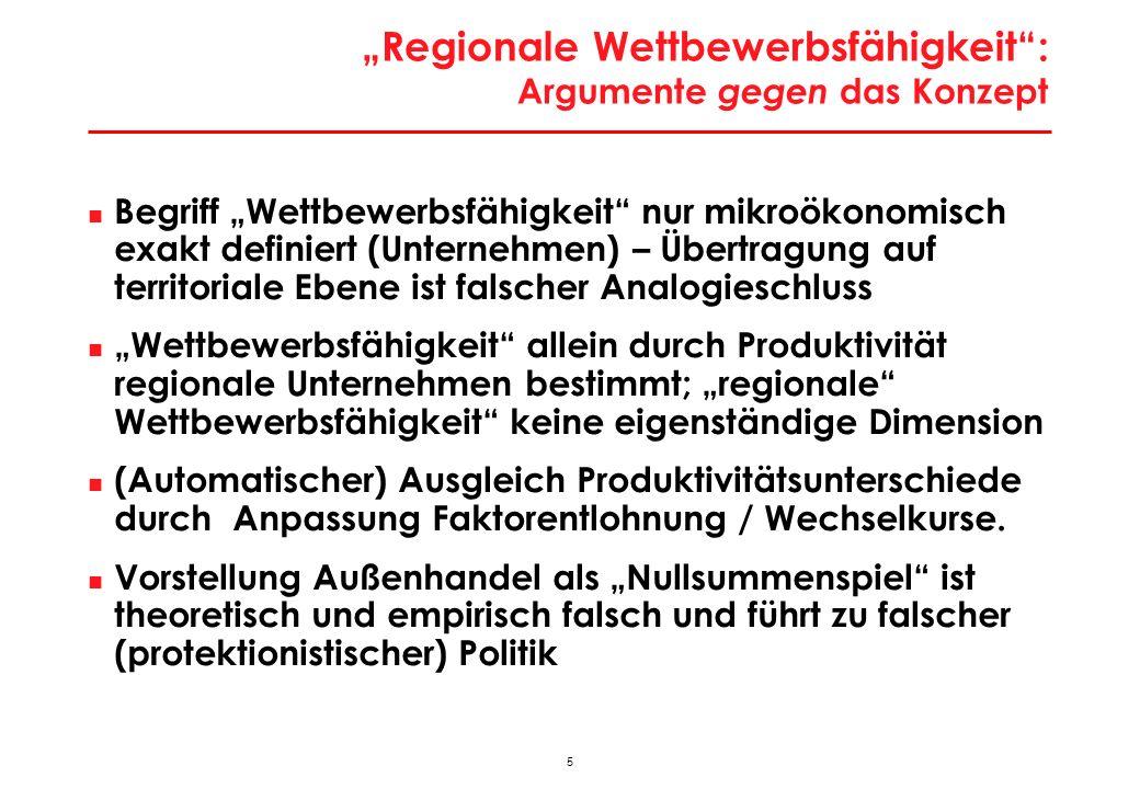 46 Exportquoten der Bundesländer 553 Q: Statistik Austria, MULTIREG,WIFO-Berechnungen.