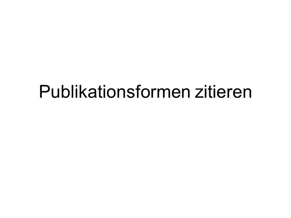 Publikationsformen zitieren