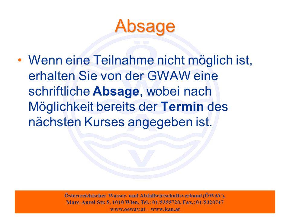 Österrreichischer Wasser- und Abfallwirtschaftsverband (ÖWAV), Marc-Aurel-Str.
