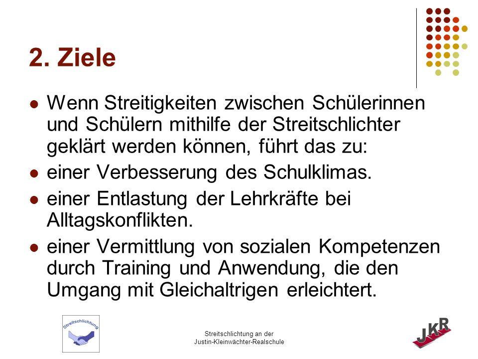 Streitschlichtung an der Justin-Kleinwächter-Realschule 3.