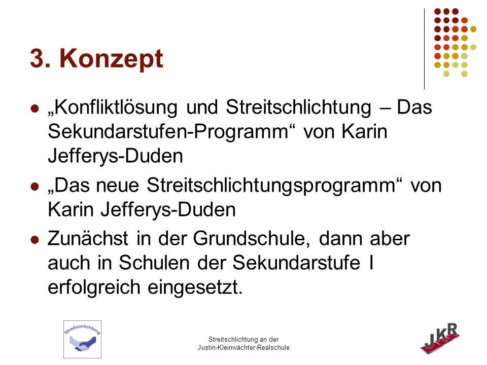Streitschlichtung an der Justin-Kleinwächter-Realschule 4.