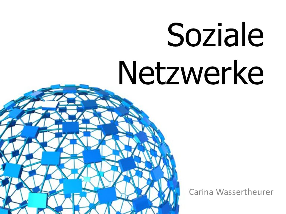 Soziale Netzwerke Carina Wassertheurer