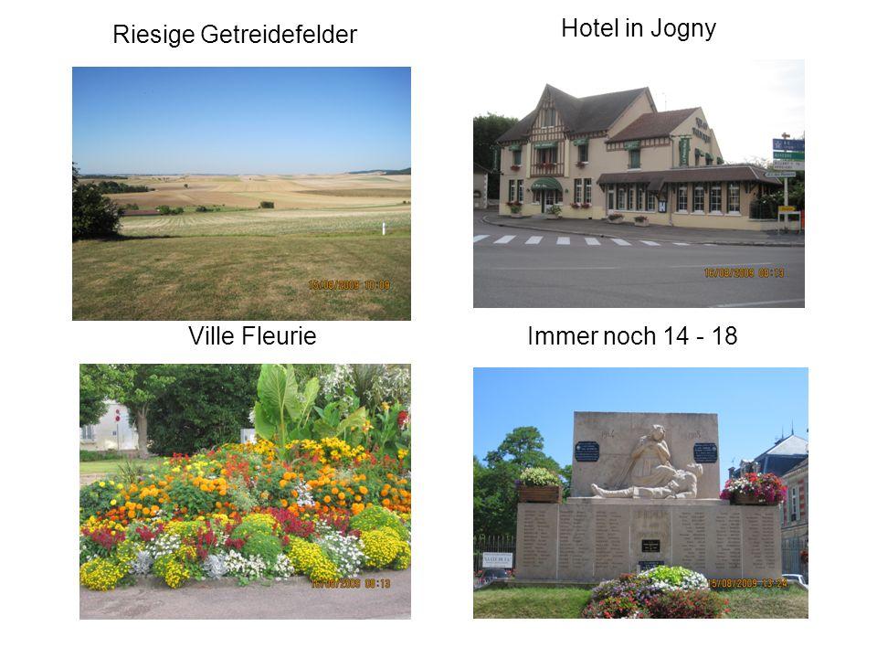 Riesige Getreidefelder Hotel in Jogny Ville FleurieImmer noch 14 - 18