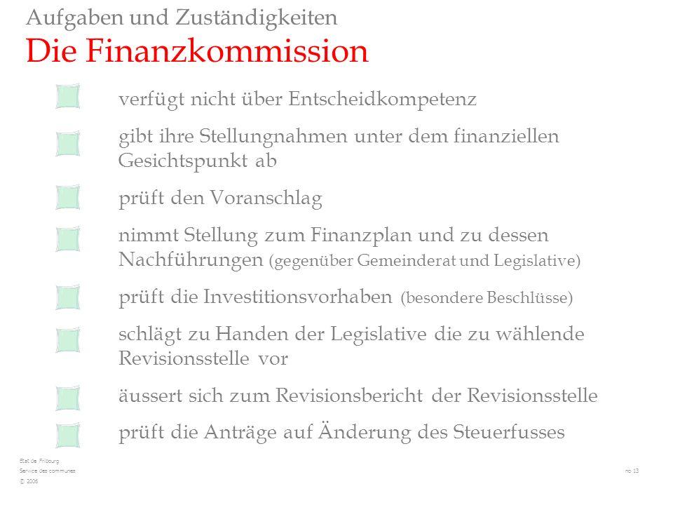 Aufgaben und Zuständigkeiten Die Finanzkommission verfügt nicht über Entscheidkompetenz gibt ihre Stellungnahmen unter dem finanziellen Gesichtspunkt