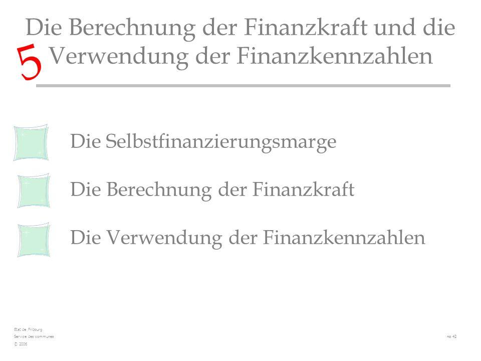 Die Selbstfinanzierungsmarge Die Berechnung der Finanzkraft Die Verwendung der Finanzkennzahlen Die Berechnung der Finanzkraft und die Verwendung der