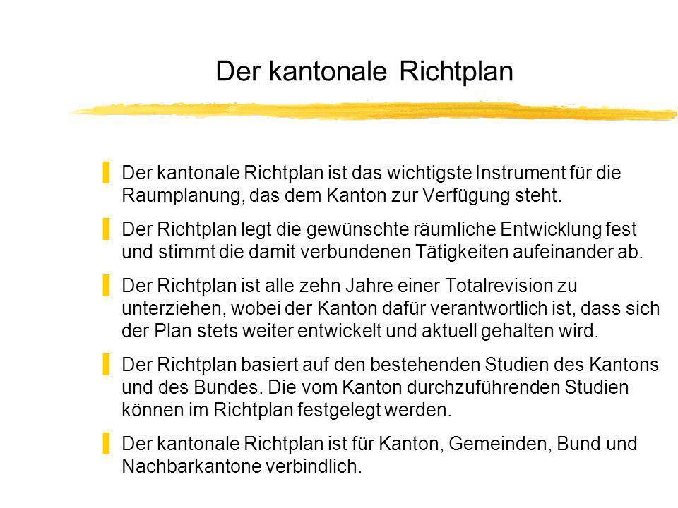 Der kantonale Richtplan Der kantonale Richtplan ist das wichtigste Instrument für die Raumplanung, das dem Kanton zur Verfügung steht.