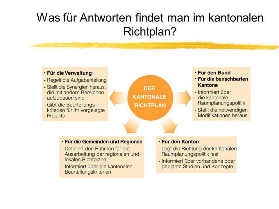 Was für Antworten findet man im kantonalen Richtplan?