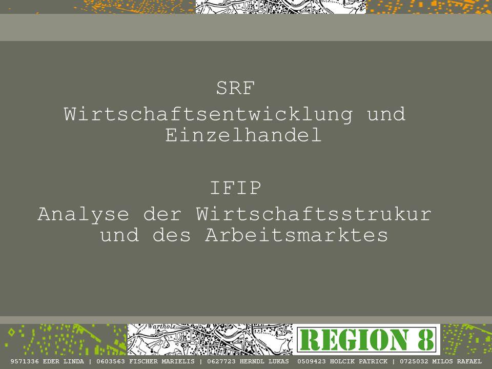 IFIP/SRF - Wirtschaftsstruktur und Arbeitsmarkt