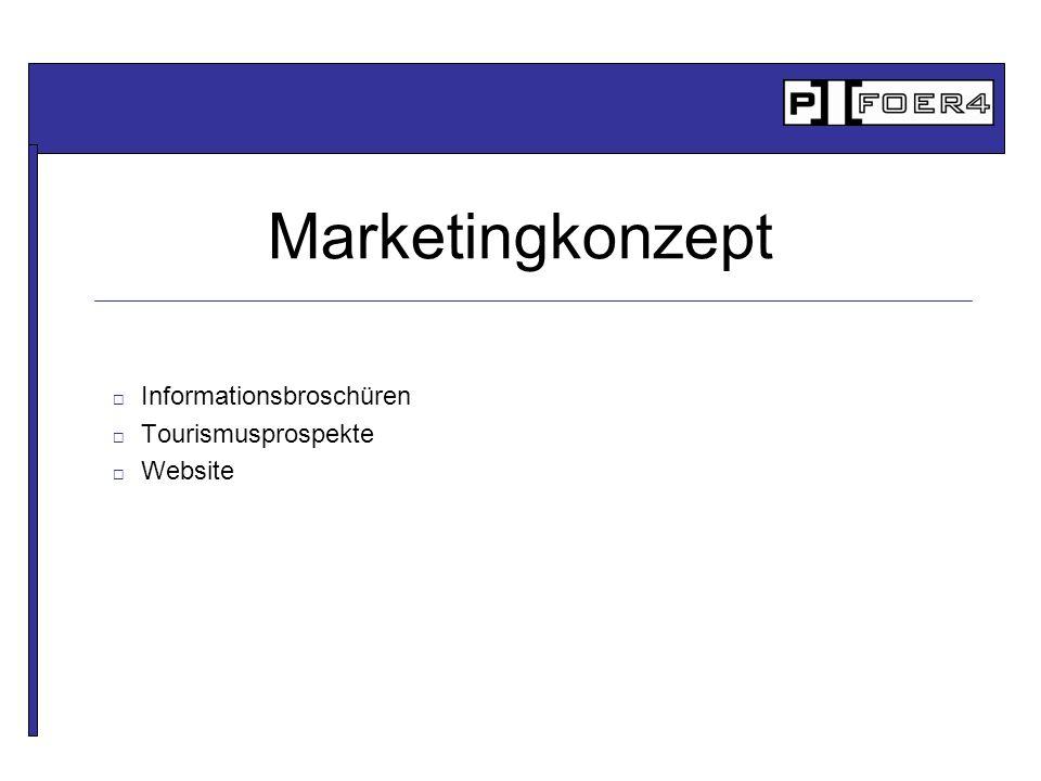 Informationsbroschüren Tourismusprospekte Website Marketingkonzept