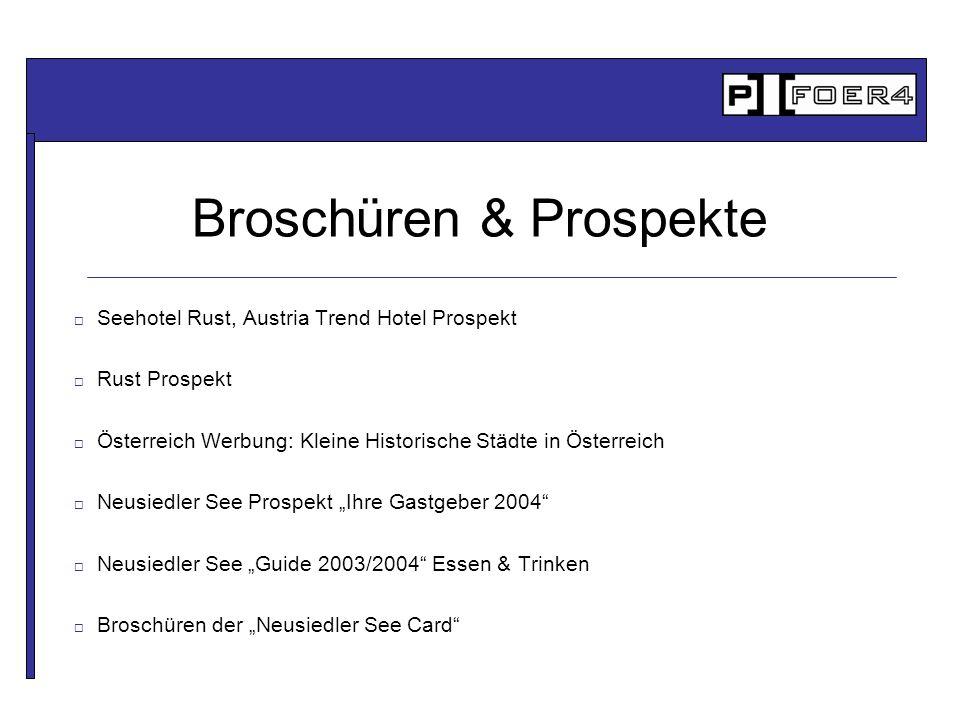 Broschüren & Prospekte Seehotel Rust, Austria Trend Hotel Prospekt Rust Prospekt Österreich Werbung: Kleine Historische Städte in Österreich Neusiedle