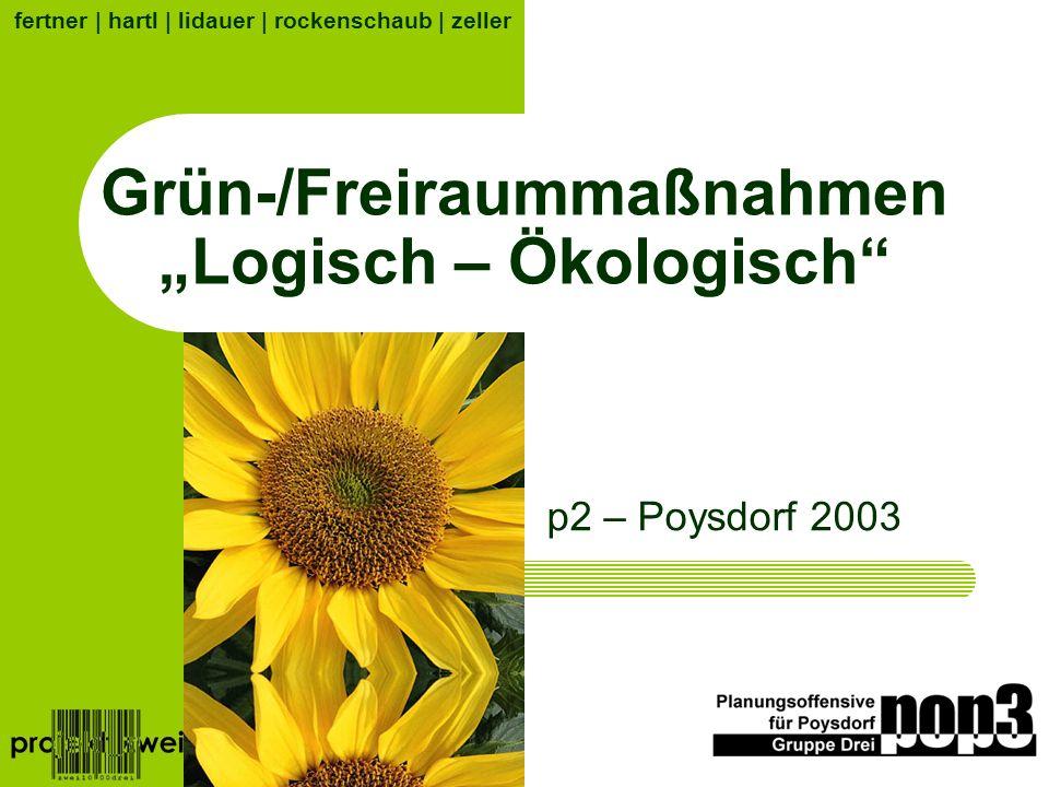 Grün-/Freiraummaßnahmen Logisch – Ökologisch p2 – Poysdorf 2003 fertner | hartl | lidauer | rockenschaub | zeller