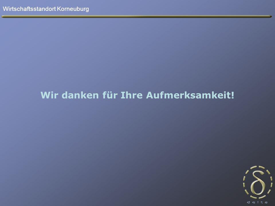 Wirtschaftsstandort Korneuburg Wir danken für Ihre Aufmerksamkeit!