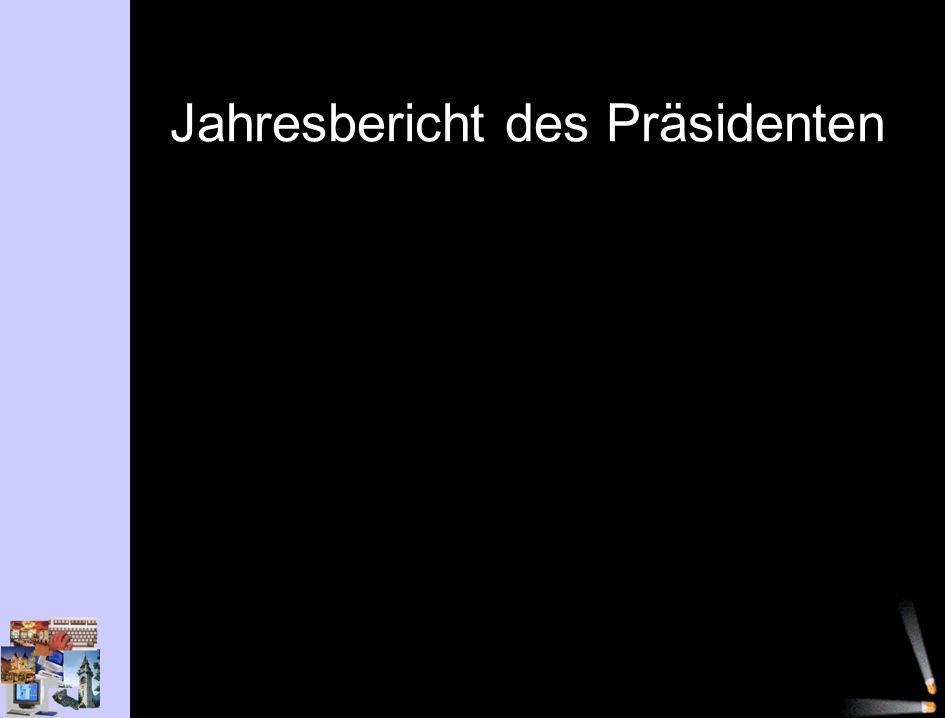 Jahresbericht des Präsidenten