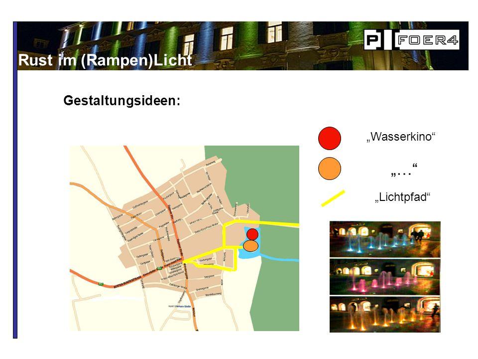Gestaltungsideen: Rust im (Rampen)Licht Wasserkino … Lichtpfad