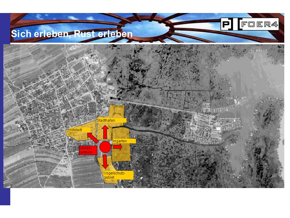 Altstadt Stadthafen Irrgarten Vogelschutz- gebiet Sinnes- zentrum