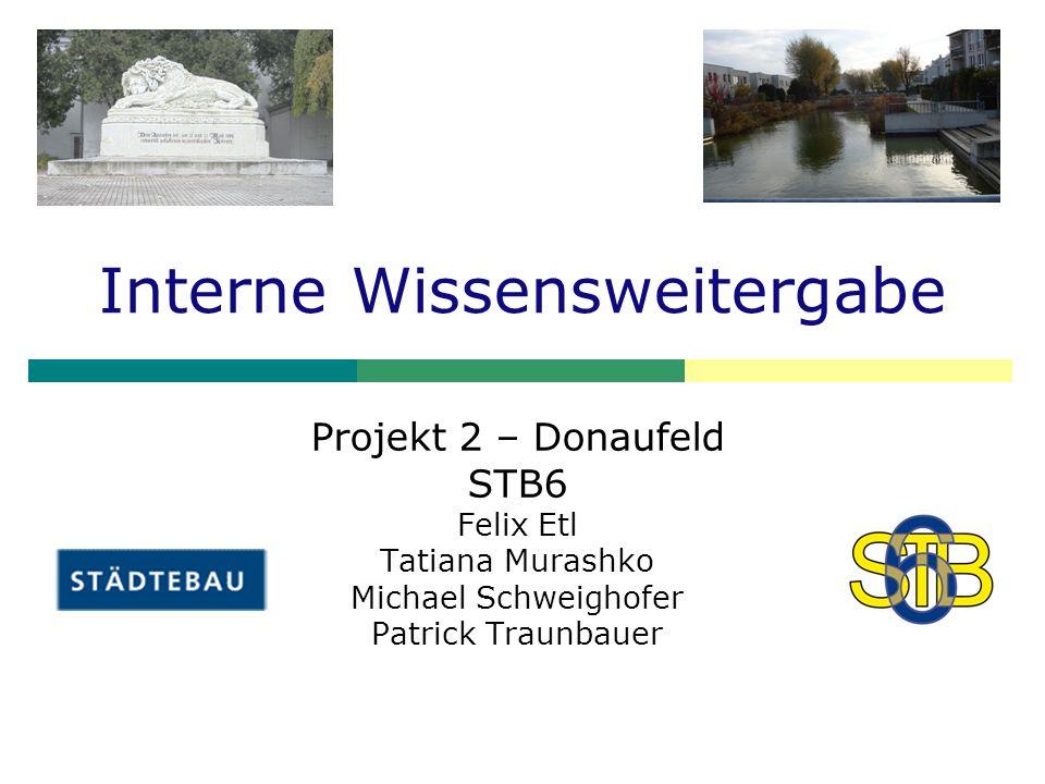 Interne Wissensweitergabe Projekt 2 – Donaufeld STB6 Felix Etl Tatiana Murashko Michael Schweighofer Patrick Traunbauer