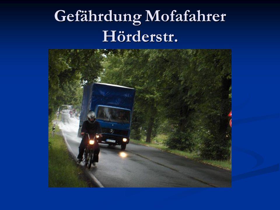 Gefährdung Mofafahrer Hörderstr.