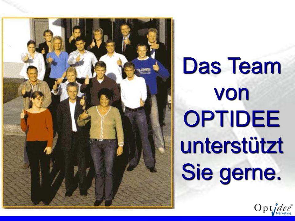 Das Team von OPTIDEE unterstützt Sie gerne.