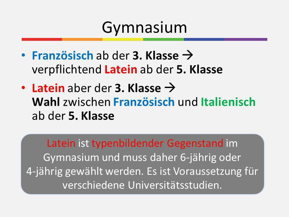 Stundentafel Gymnasium Pflichtgegenstände5.Klasse6.