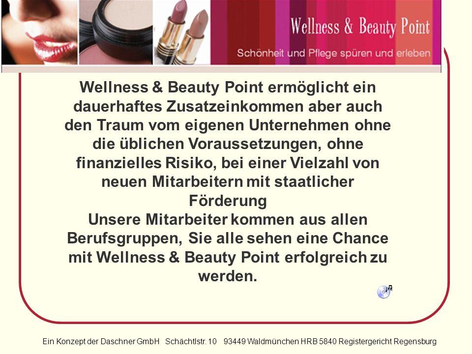 Ein Konzept der Daschner GmbH Schächtlstr. 10 93449 Waldmünchen HRB 5840 Registergericht Regensburg Zufriedene Kunden und Mitarbeiter: Wellness & Beau