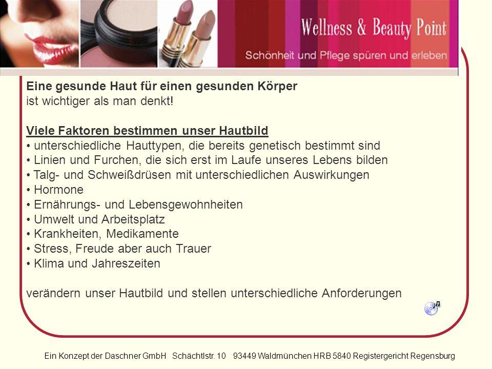 Ein Konzept der Daschner GmbH Schächtlstr. 10 93449 Waldmünchen HRB 5840 Registergericht Regensburg Willkommen bei Wellness & Beauty Point in einer vö