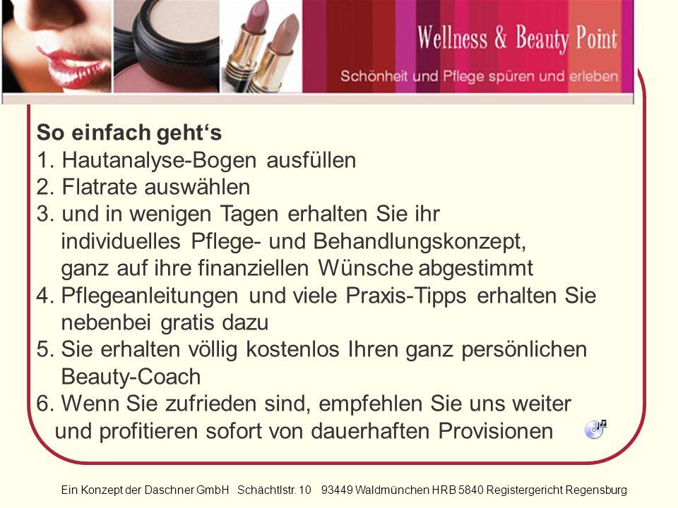 Ein Konzept der Daschner GmbH Schächtlstr. 10 93449 Waldmünchen HRB 5840 Registergericht Regensburg Nach dem Motto Schön mit 20, 30, 40, 50, 60, 70+……