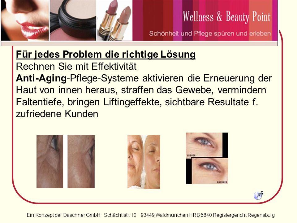 Ein Konzept der Daschner GmbH Schächtlstr. 10 93449 Waldmünchen HRB 5840 Registergericht Regensburg Attraktiv in jedem Alter Das ist für Wellness & Be