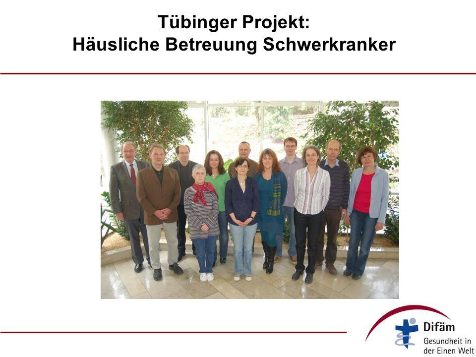 Tübinger Projekt: Häusliche Betreuung Schwerkranker