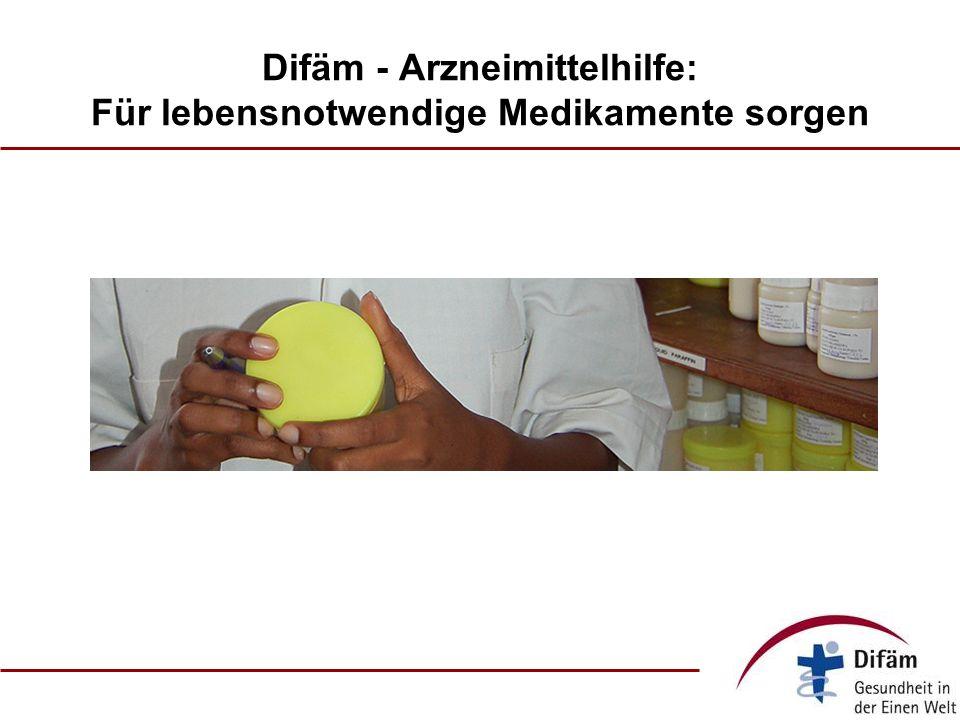 Difäm - Arzneimittelhilfe: Für lebensnotwendige Medikamente sorgen