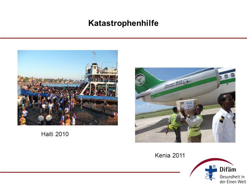 Katastrophenhilfe Haiti 2010 Kenia 2011