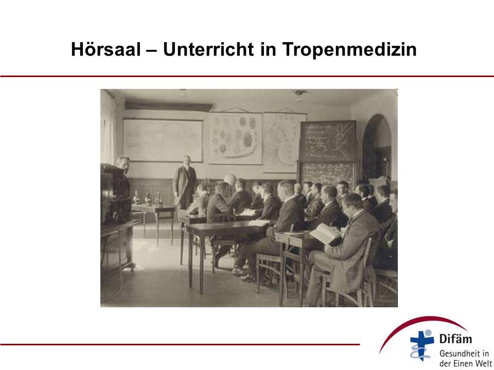 Hörsaal – Unterricht in Tropenmedizin