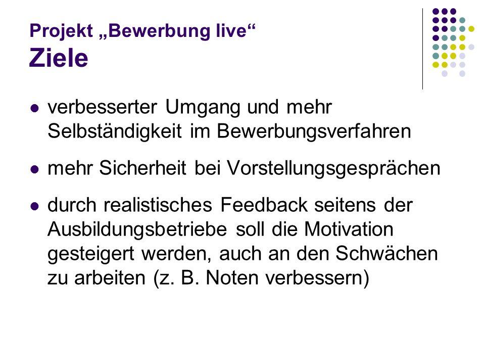 Projekt Bewerbung live Betriebe/ Firmen/ Einrichtungen Bäckerei Dietz, Ehrang Seniorenresidenz St.