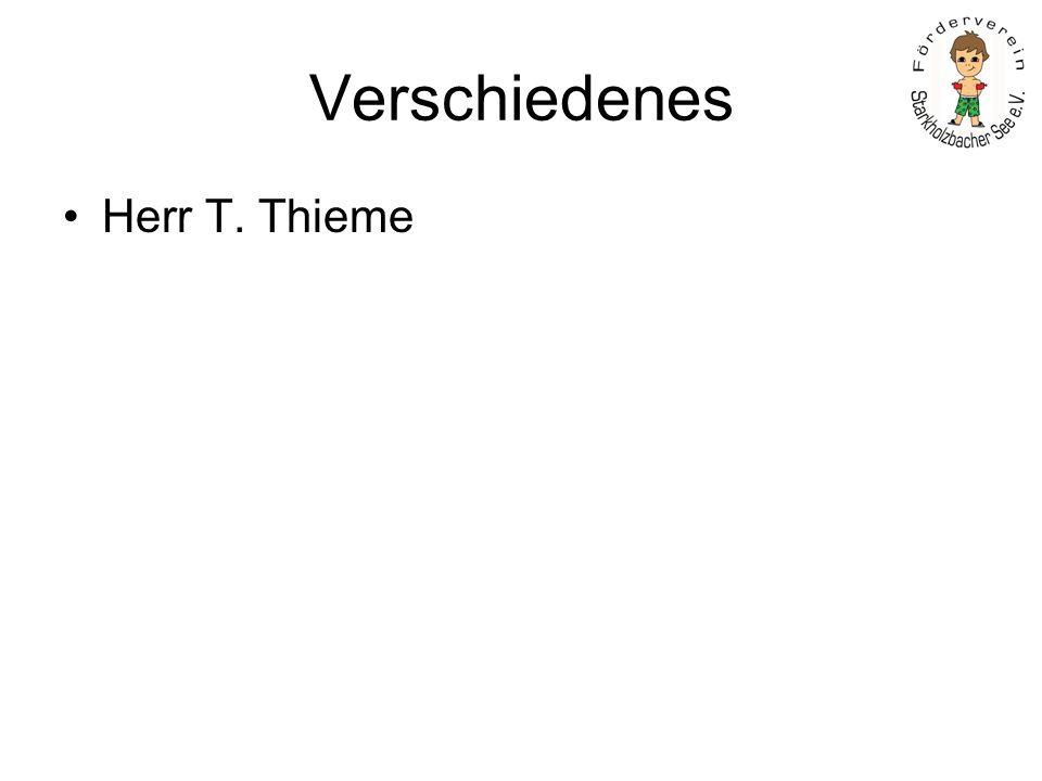 Verschiedenes Herr T. Thieme