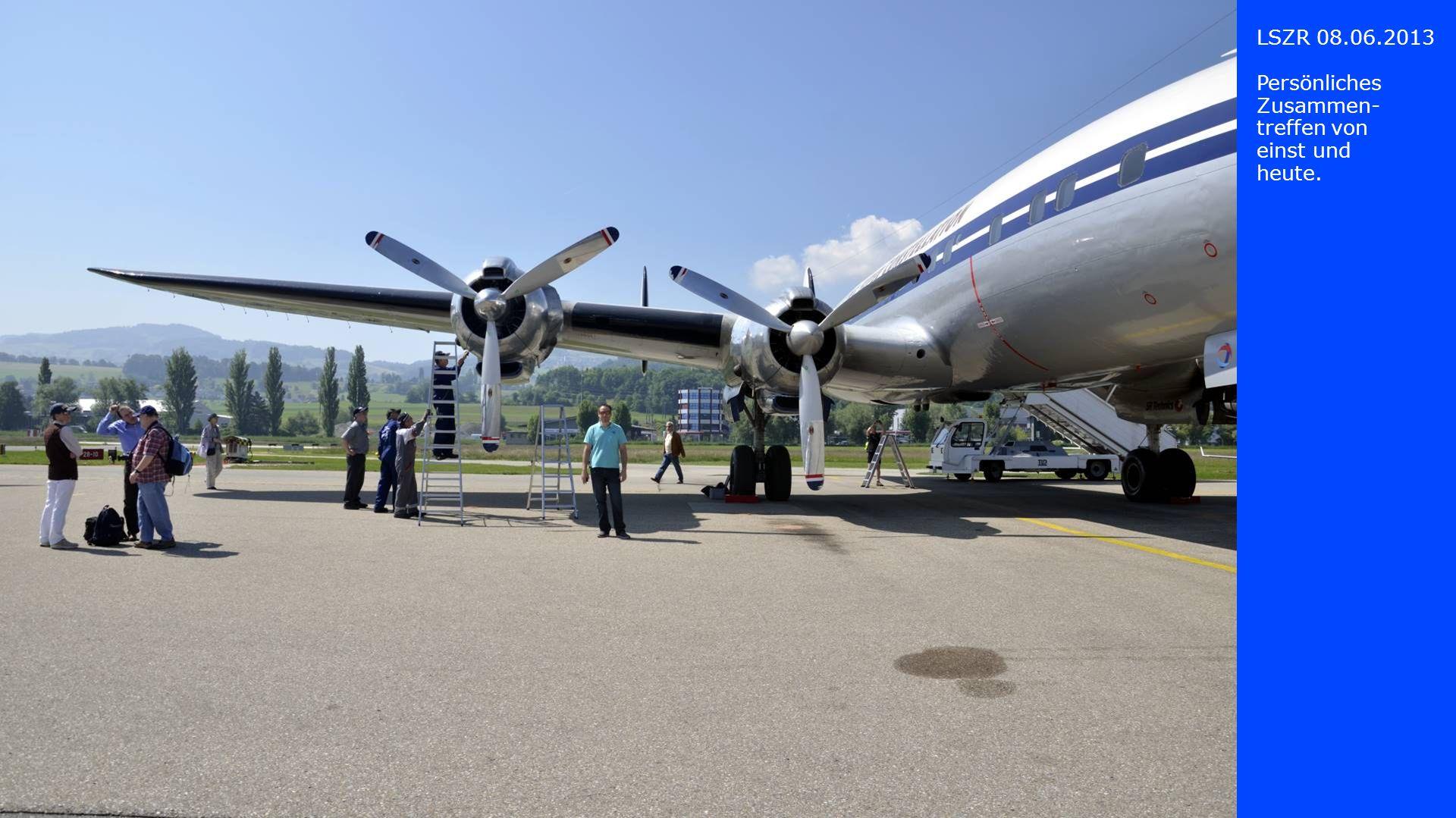 LSZR 08.06.2013 Der lange, ge- schwungene Rumpf, konstruiert nach den Spezifika- tionen von Howard Hughes.