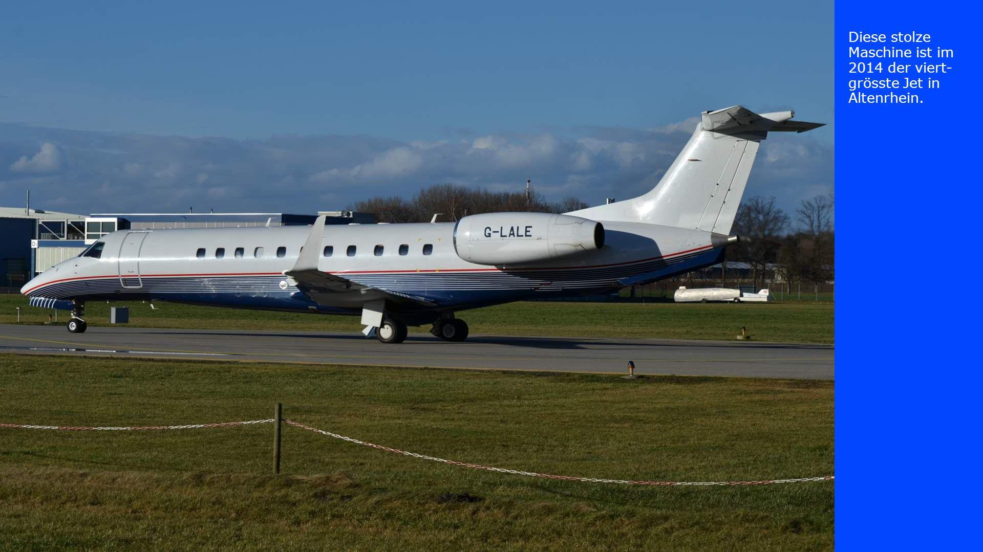 Diese stolze Maschine ist im 2014 der viert- grösste Jet in Altenrhein.
