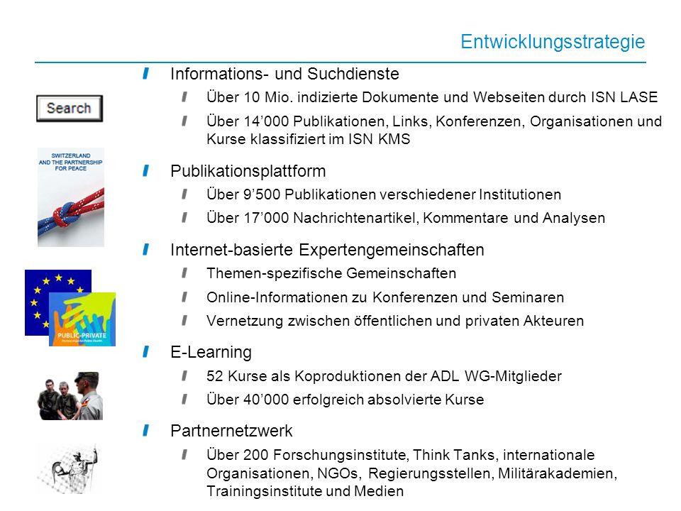 www.isn.ethz.ch Informations- und Suchdienste Über 10 Mio.
