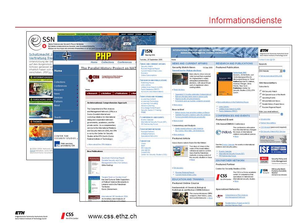 www.css.ethz.ch Informationsdienste