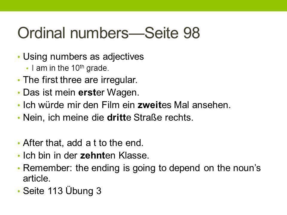 Landeskunde Seite 98Die Clique