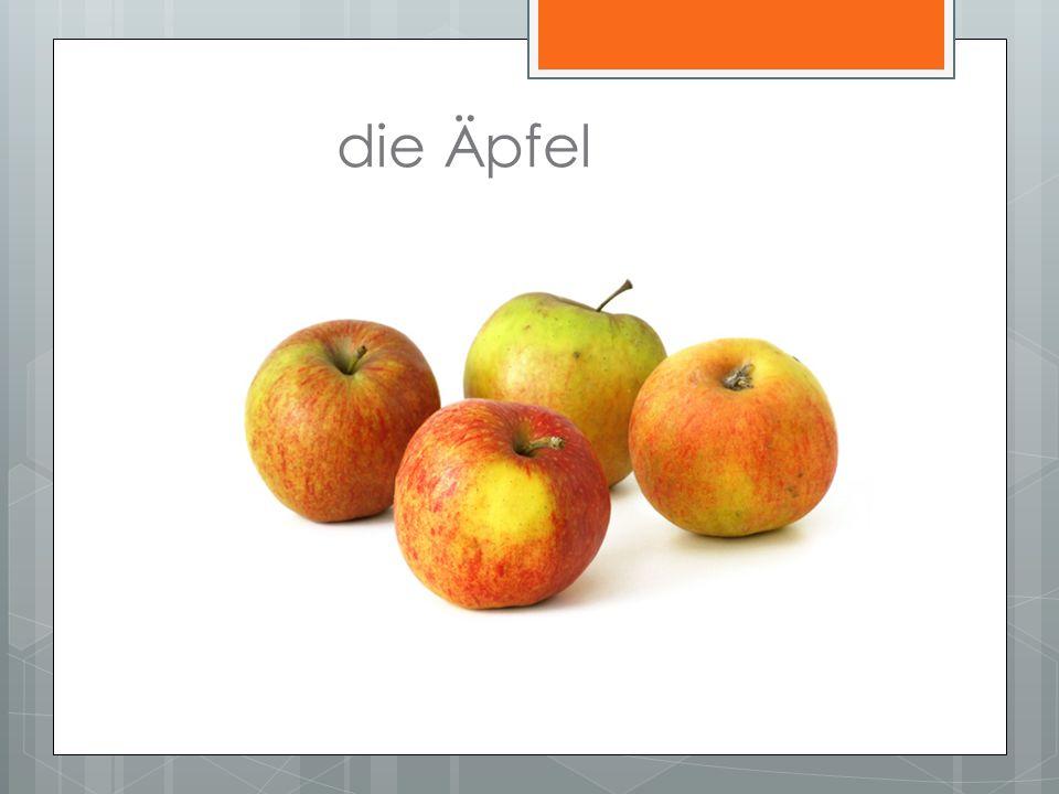 die Äpfel