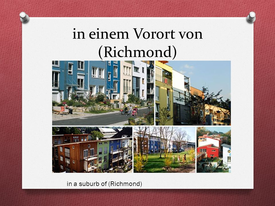 in einem Vorort von (Richmond) in a suburb of (Richmond)
