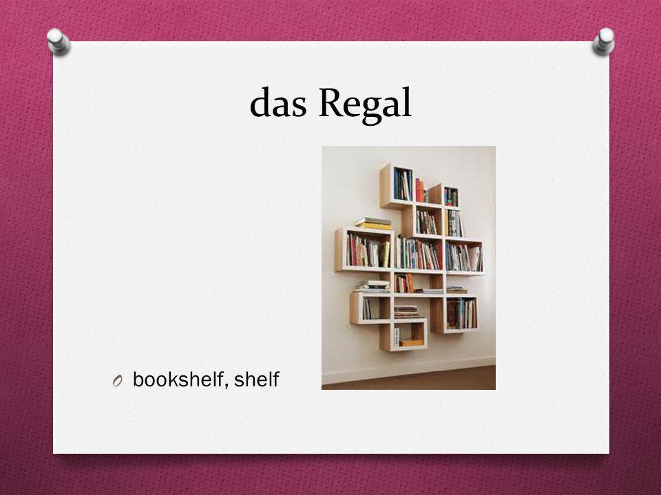 das Regal O bookshelf, shelf
