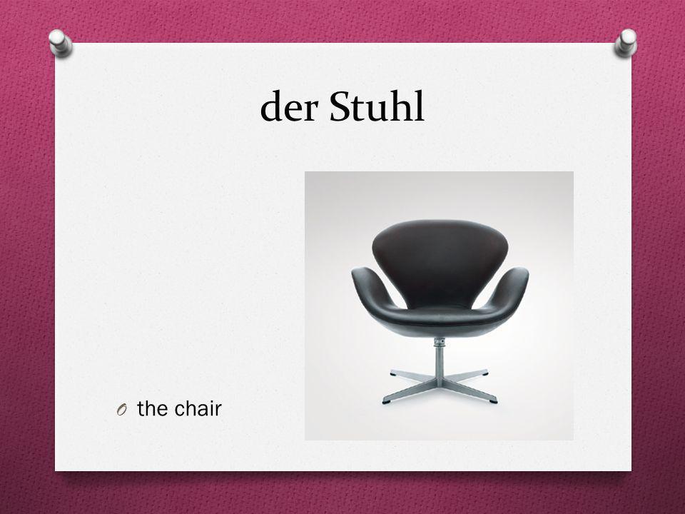 der Stuhl O the chair