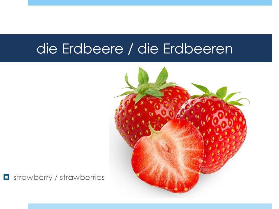 die Erdbeere / die Erdbeeren strawberry / strawberries