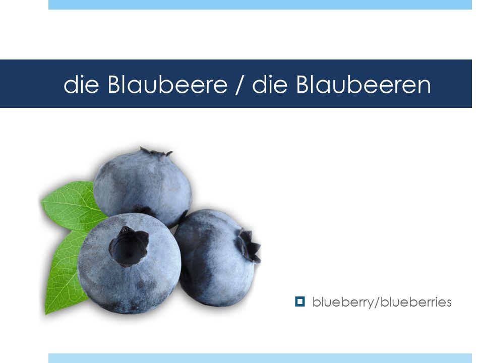 die Blaubeere / die Blaubeeren blueberry/blueberries