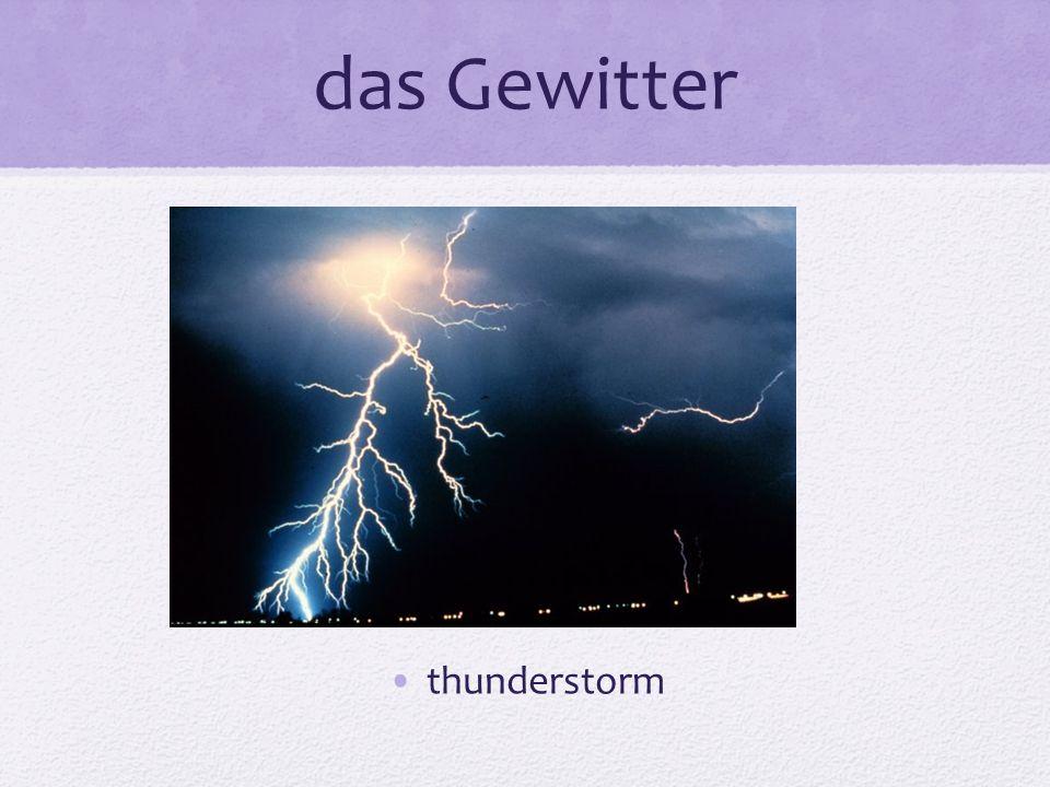 das Gewitter thunderstorm