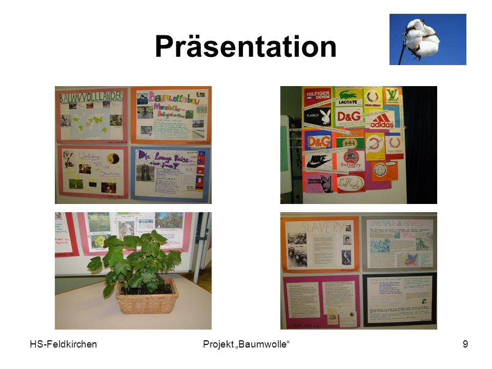 HS-FeldkirchenProjekt Baumwolle 9 Präsentation