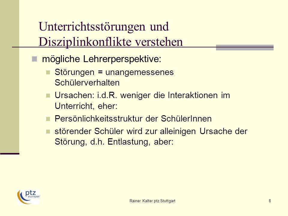Rainer Kalter ptz Stuttgart49 Persönlichkeitsstärkung im RU Disziplin-Managementebene Zeit verschaffen – Ankerplatz einnehmen Wissen Sie, was passiert ist.