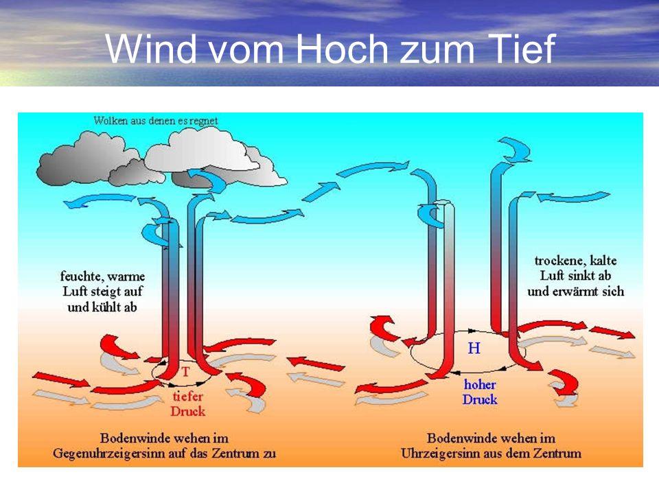 Bodenwind Starke Einflüsse: –Bodenreibung (Bremse) –Bodenform / Orographie –Thermik (lokale Verstärkung / Überlagerung) Prognose trifft vor Ort selten exakt zu